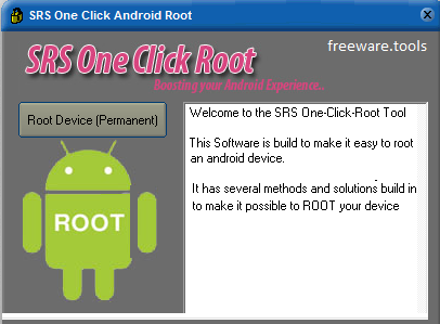 Freeware Tools: SRS One Click Root 4 7