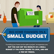 Infographic: Decorating your home on a budget