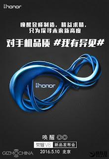 Huawei Honor V8: Αποκαλύπτονται τα τεχνικά χαρακτηριστικά και η (προσιτή) τιμή του