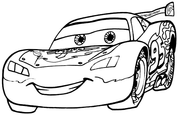 Cars Movie Coloring Page Best Shots