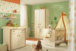 Diseño cuarto bebé verde