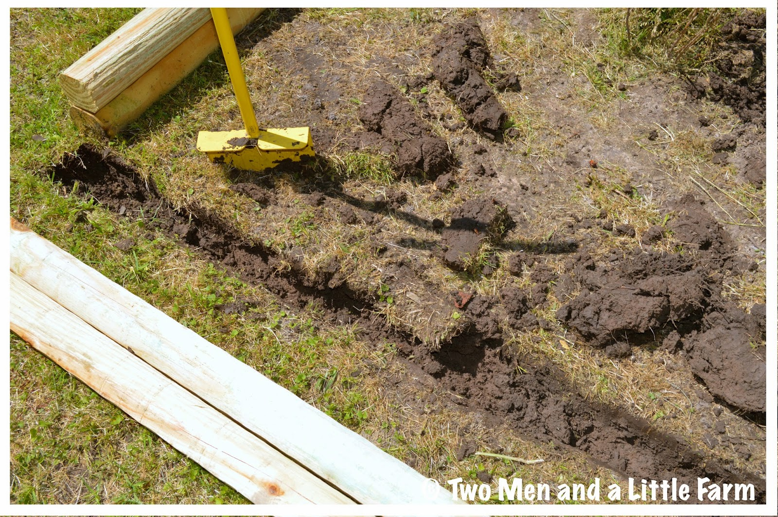 Landscape Ties Chilliwack : Two men and a little farm landscape timber flower bed