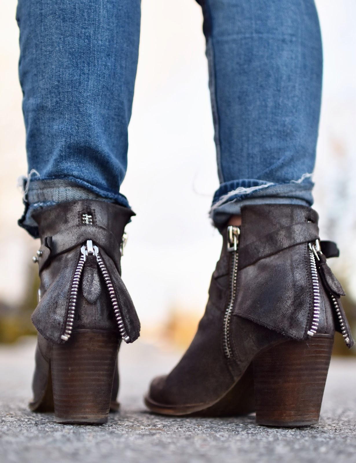 Monika Faulkner outfit inspiration - Wishbone Collection booties