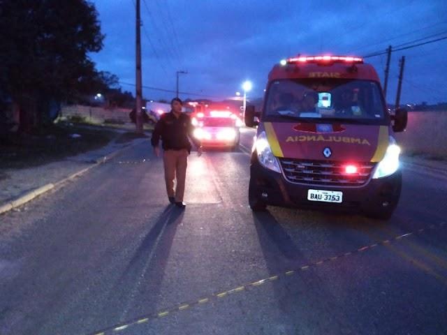 Dupla tenta fugir da polícia e um acaba sendo baleado