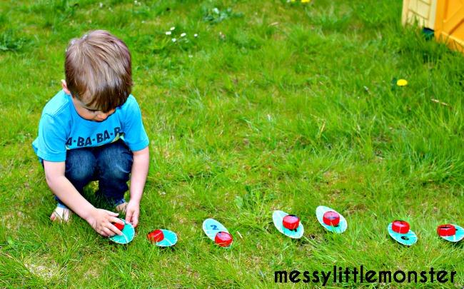number game ladybird craft (FREE PRINTABLE NUMBER LEAVES)