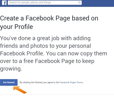 Facebook profile ko facebook page me migrate kaise kare
