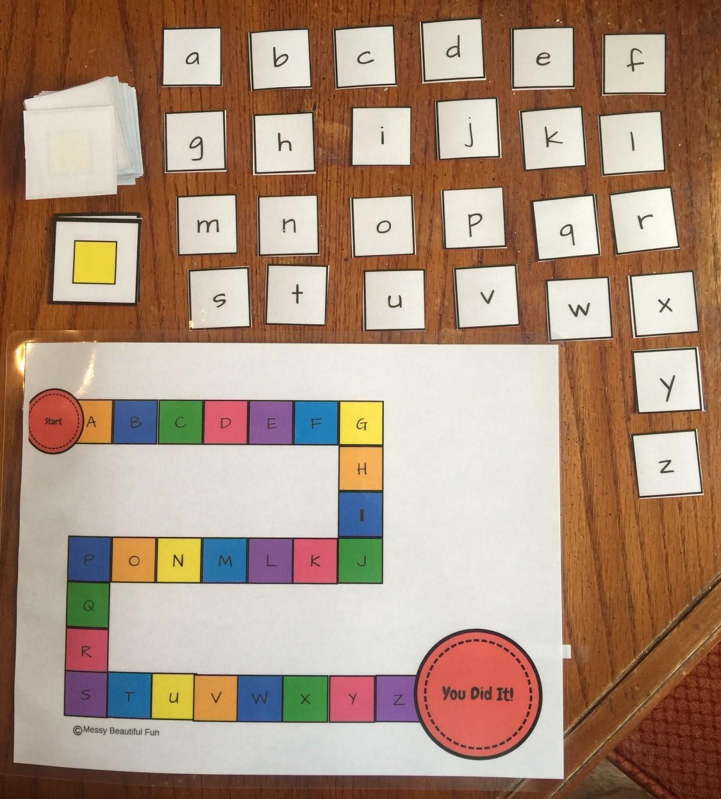 Free Printable Alphabet Candyland