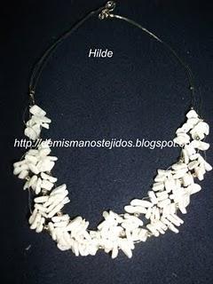 91d1a03b757c DE MIS MANOS TEJIDOS Y MAS...  Collar blanco
