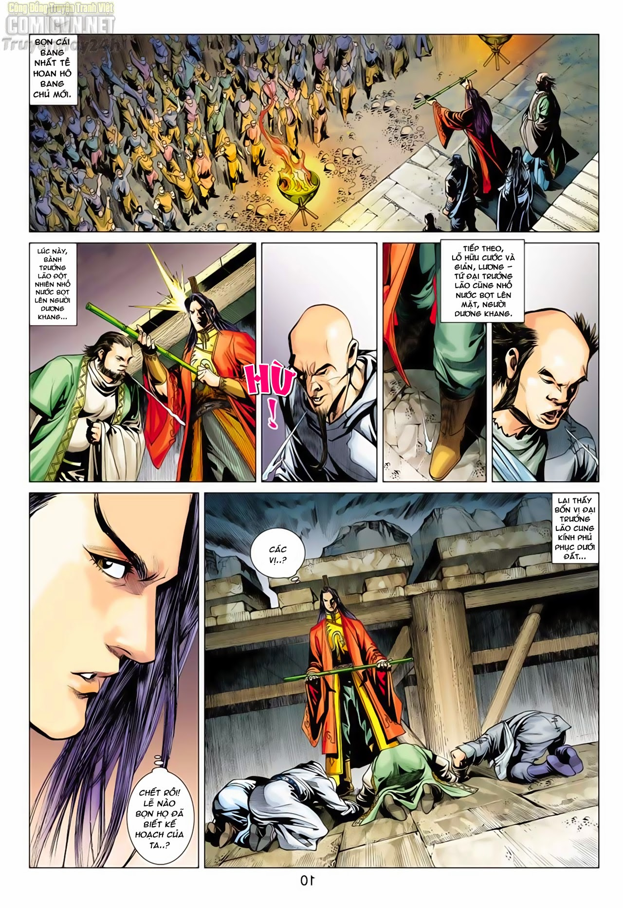 Anh Hùng Xạ Điêu anh hùng xạ đêu chap 66: nhạc châu đại hội trang 10