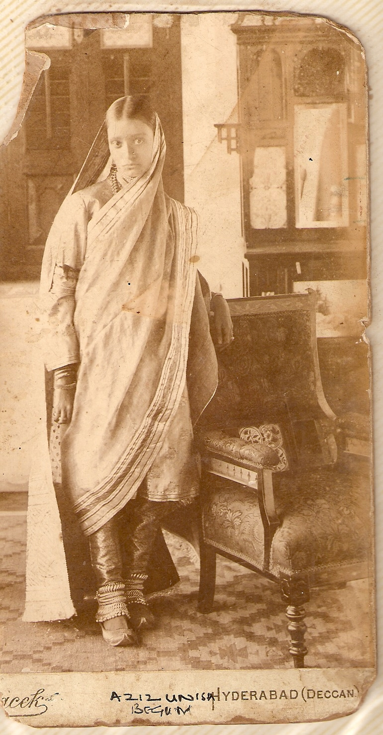 Portrait of Azizunisa Begum - Aziz Bagh, Hyderabad, Deccan