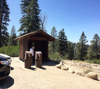 Bathrooms at Sentinel Dome trailhead