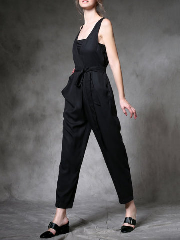 Black Jumpsuit StyleWe - A Glimpse of Glam Andrea Tiffany