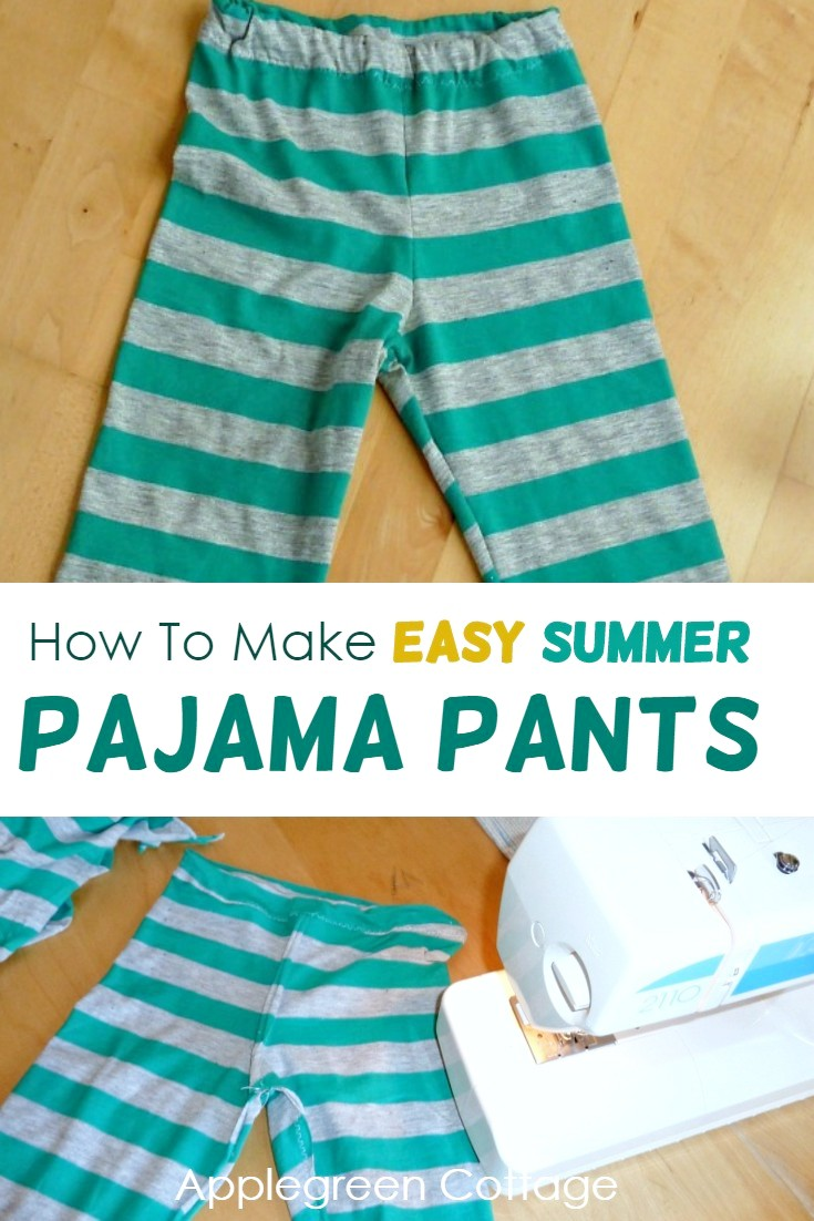 how to make summer pajama pants