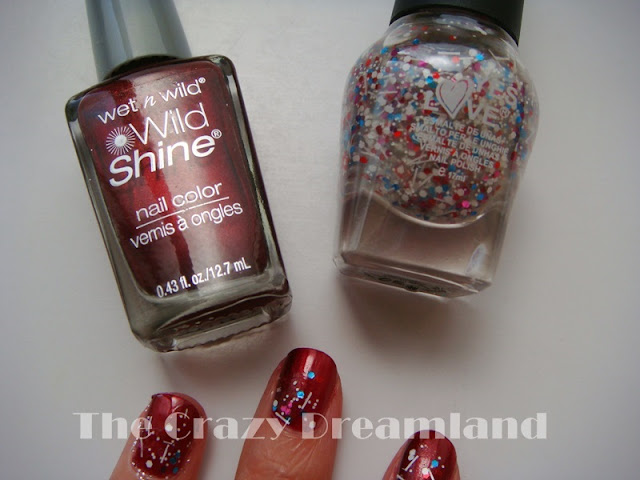 rojo y glitter