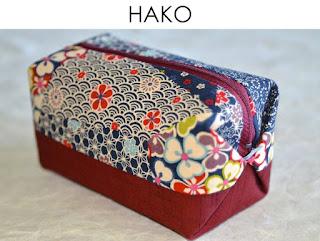 Kosmetiktasche Hako aus japanischen Stoffen von Noriko handmade, handgemacht, Einzelstück, Unikat, Schminktäschchen, Design