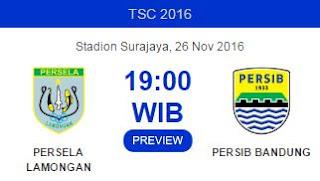 Prediksi Persela Lamongan vs Persib Bandung - TSC Sabtu 26 November 2016