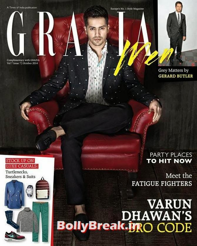 Varun Dhawan, Bollywood Actors Hot & Sexy Pics on Magazine Covers