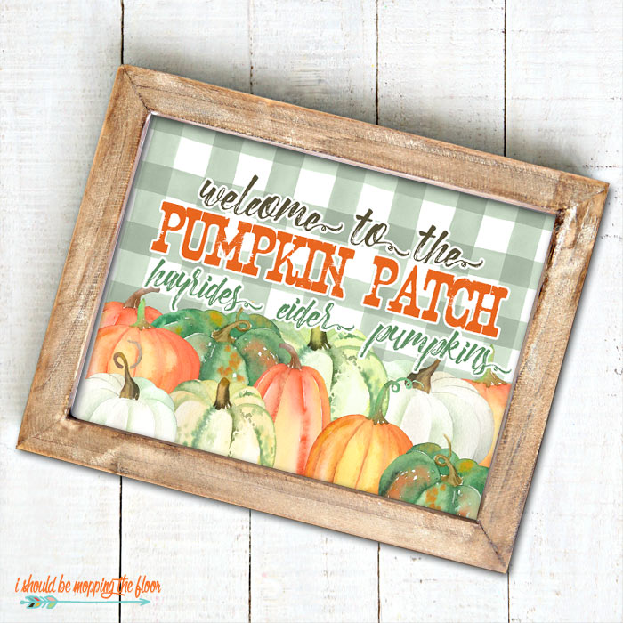 Pumpkin Patch Sign Printables