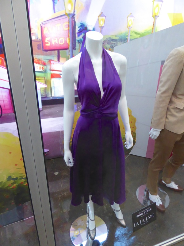 Emma Stone La La Land purple Mia dress