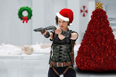 Gli auguri di Natale da Milla Jovovich sul set di Resident Evil: Retribution