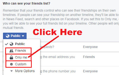 how to hide friend list on facebook on laptop