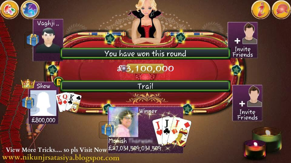 Hack Indian Poker Teen Patti With Unlimited Chips Or Money Nikunj R Satasiya
