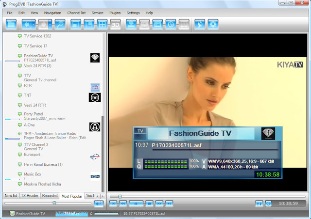 ProgDVB 7.13.2 : Software Menonton TV secara Online Di windows