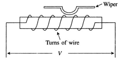 Sastramech: Wire wound potentiometer