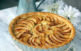 kreasi sugar dough, apple tart