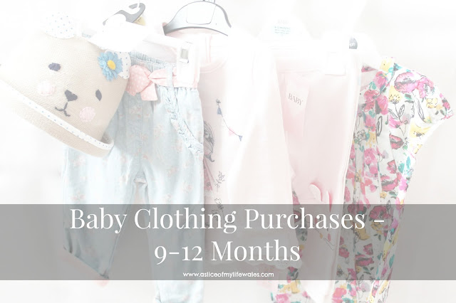 9-12 month baby girl clothing purchases January 2016