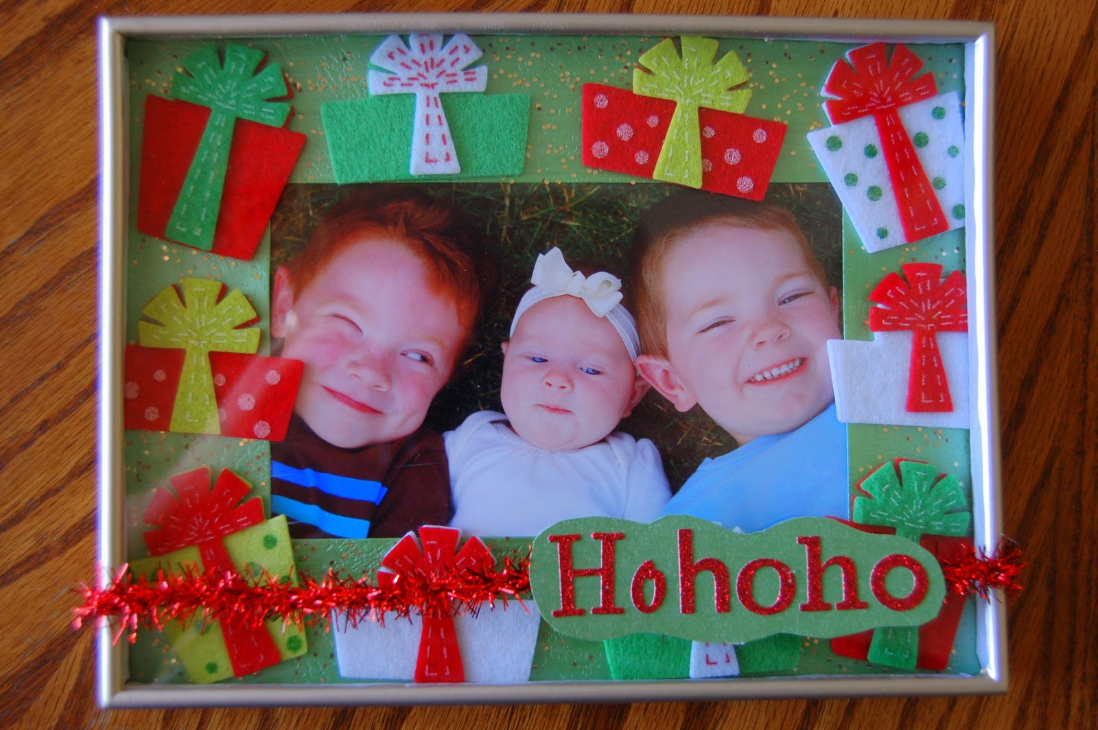 7 i heart crafty things the 13 crafts of christmas lines across now just stand back and admire your darling new christmas picture frames my husband even commented on how cute they are without me even coaxing him and jeuxipadfo Choice Image