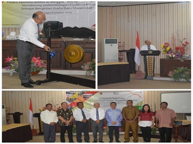 Anderias Rentanubun Buka Pembinaan dan Pengembangan Ekonomi Kreatif di Malra