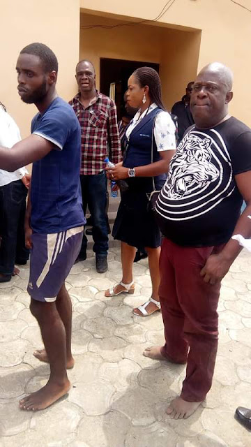 Photos: Police parade 63 political thugs including suspects arrested in connection with pre-electoral violence in Akwa Ibom