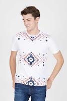 BerryBenka Men Aztec Tshirt White ANDHIMIND