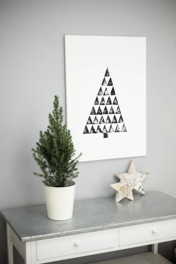 DIY Interior / Deko-Idee zu Weihnachten: Selbstgestaltetes Bild