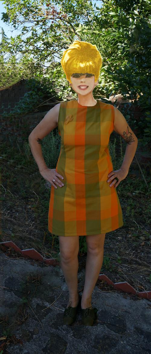 Simplicity 8682 - 1970 - A-line sleeveless dress 1970s 70s mod twiggy annees 70 retro vintage
