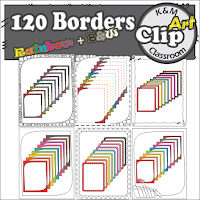Borders in Rainbow Colors