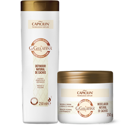 #Testei: G Gelatina - Definidor Natural de Cachos (Capicilin)