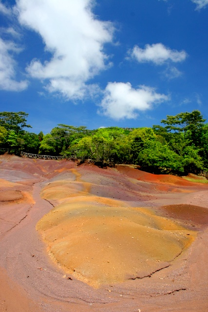 3d Wallpaper Natural Beauty The Seven Colors Earth Mauritius Beautiful And Unusual