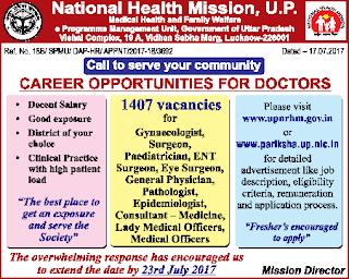 ✉ NRHM UP Recruitment 2018 2390 Block Manager, Program Coordinator, Ayush Doctor ✉