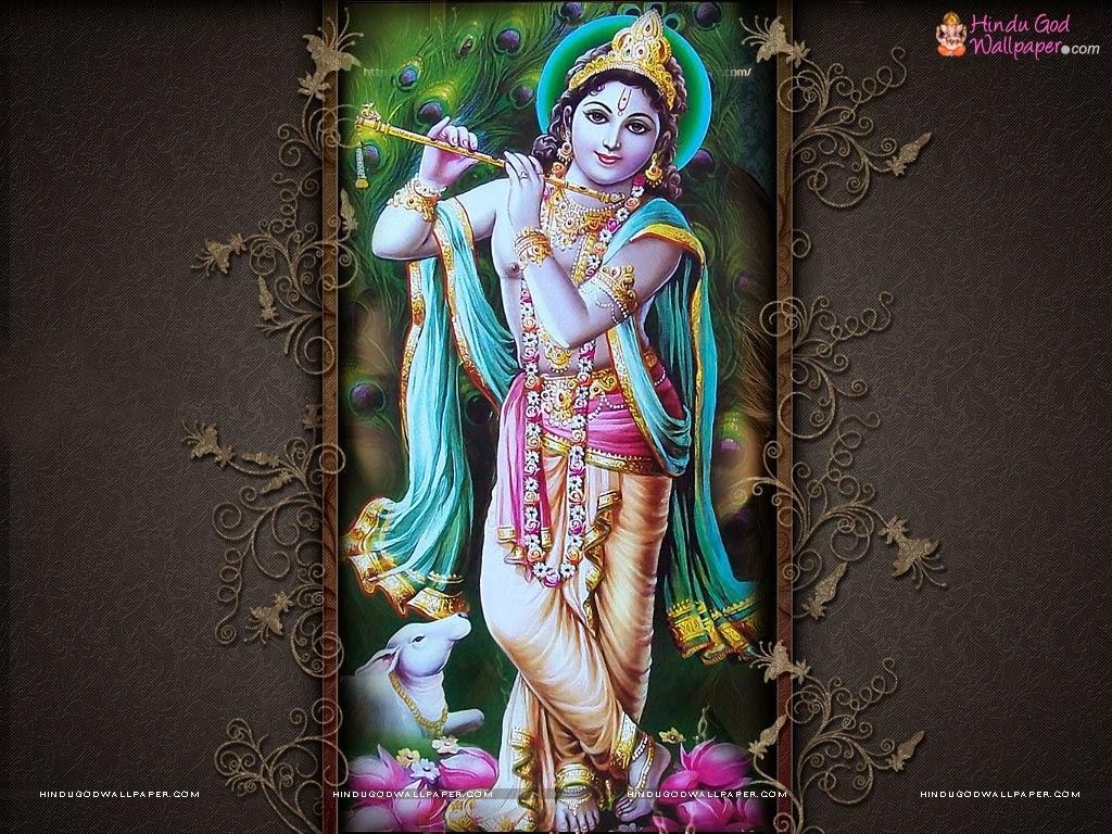 Hindu God Wallpapers: Krishan Name Wallpaper