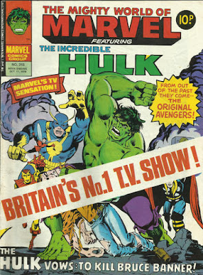 Mighty World of Marvel #315, the Hulk vs the original Avengers