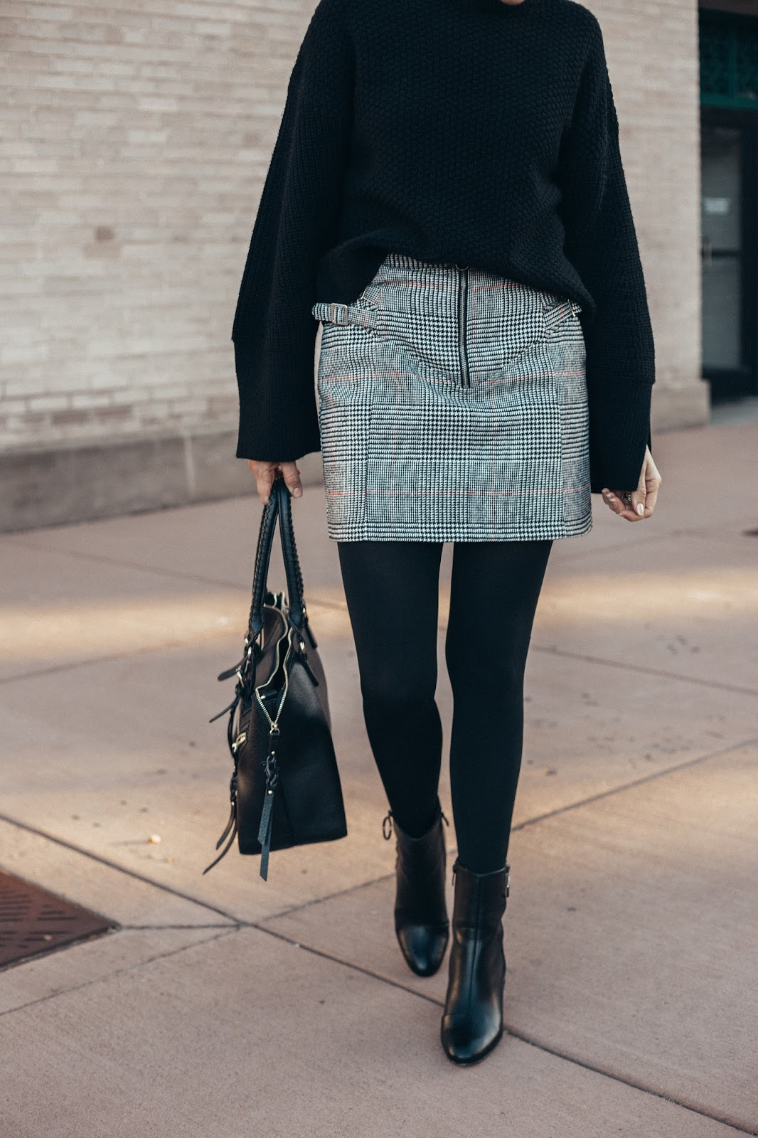 Check Skirt by popular Colorado fashion blogger Eat Pray Wear Love