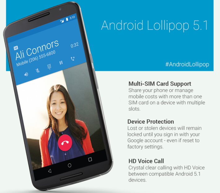Fitur baru Android 5.1 Lollipop