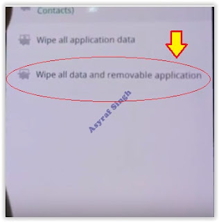 Wipe All Data and Removable Applications