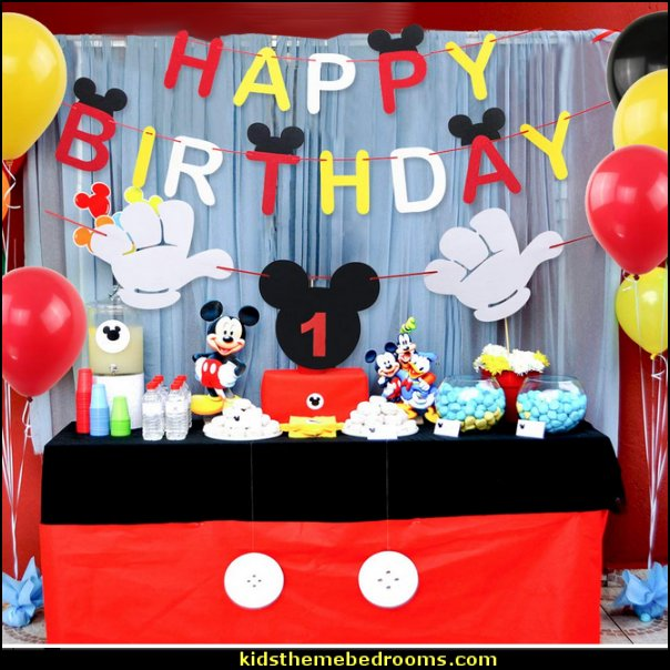 Mickey Mouse Happy Birthday Banner Decorations Kit