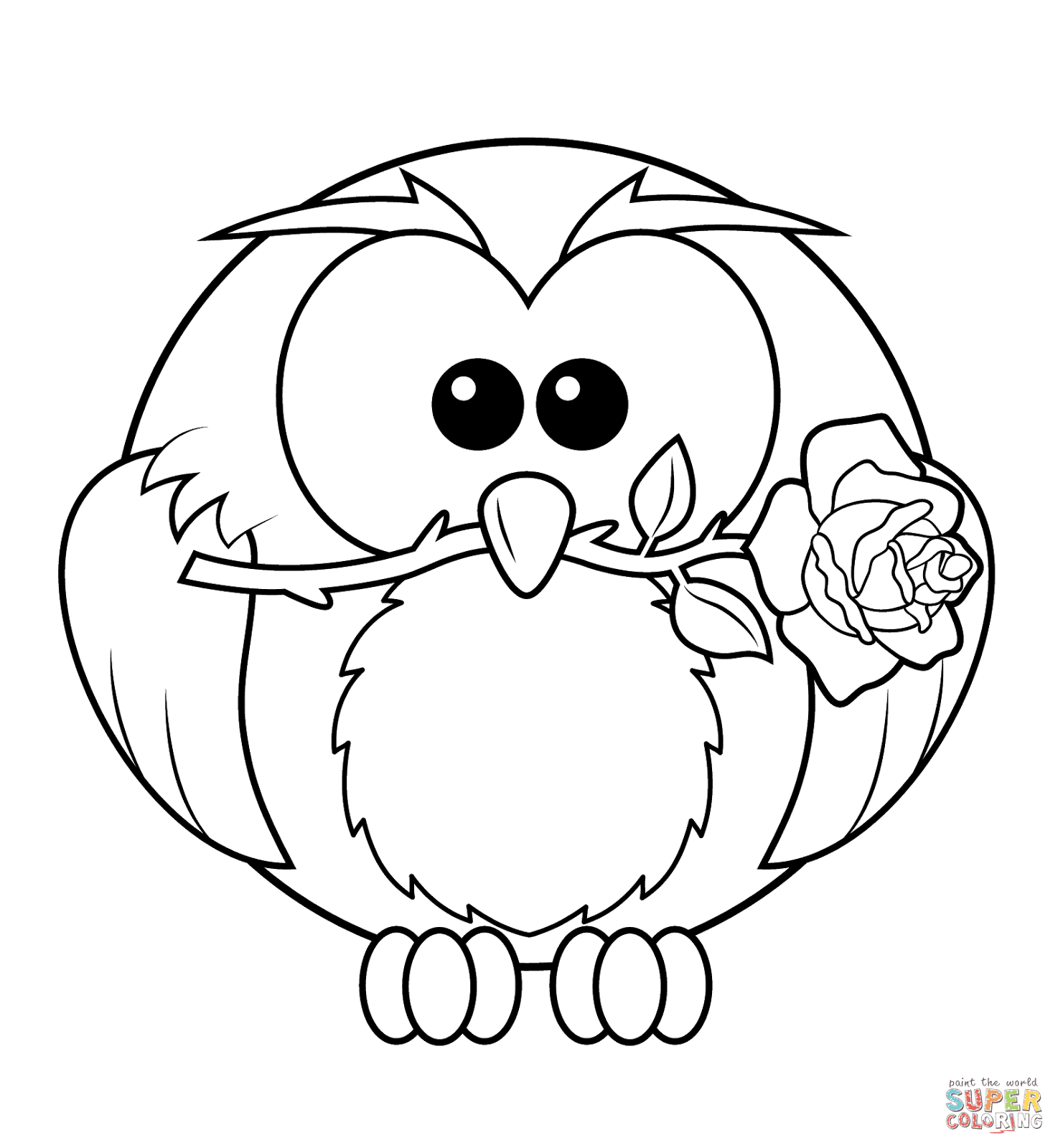 best cute owl coloring pages for girls library coloring