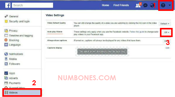 Disable Autoplay Facebook Video on PC Browser.