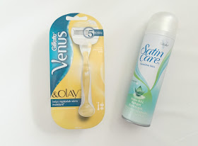 Gillette Venus & Olay razor and satin care shaving foam