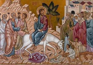 Jesus entering Jerusalem